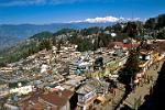 West Bengal - the hill station town of Darjeeling, Mt. Kanchenjunga in the background