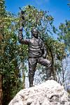 the statue of Tenzing Norgay, climber of Everest with Edmund Hillary in 1953