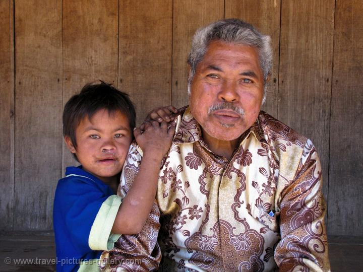 a man and his grandson, Wogo village