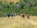 tourists exploring the Komodo National Park on foot