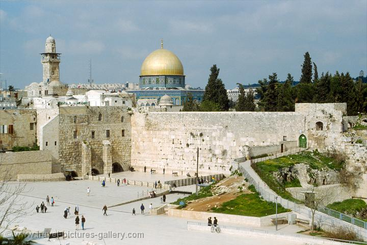 the Western Wall or Wailing Wall, Kotel