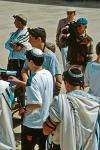 Jewish boys at the Wailing Wall