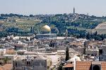 Temple Mount, Mount of Olives and Dome of the Rock