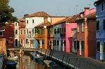 the island of Burano lies in the northern part of the Venetian Lagoon