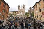 Spanish Steps, Piazza Spagna, Church of Trinit� dei Monti