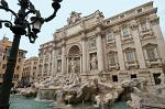 Fontana di Trevi, Trevi Fountain, built by the architect Salvi