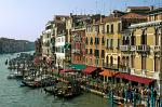 houses along the Canal Grande from Rialto Bridge