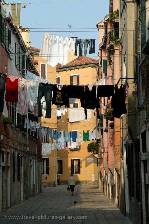 laundry in a residential area