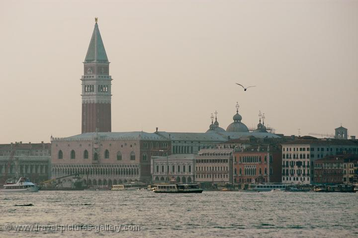 Doge Palace and Campanile at dusk