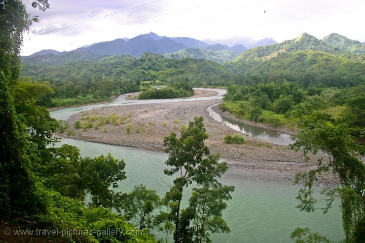 Jamaica - blue mountain panorama from moortown, rio grande river
