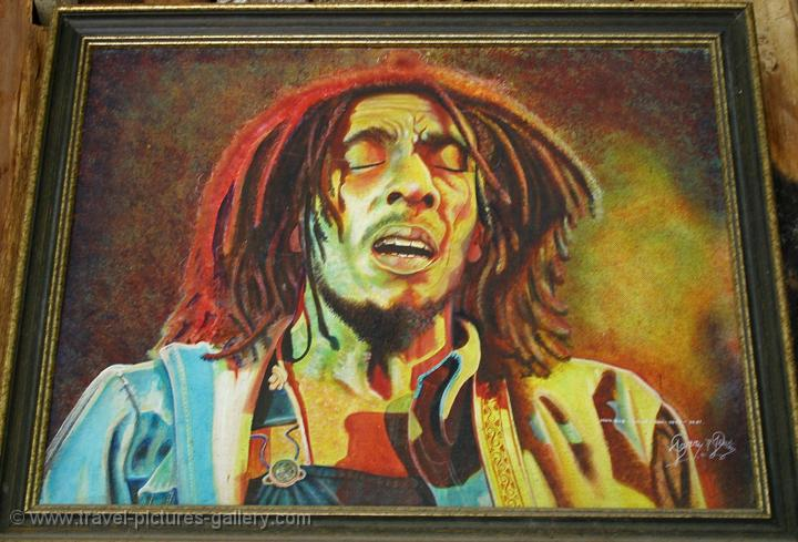 ... of the Caribbean - Jamaica - Bob Marley painting, the national legend: www.travel-pictures-gallery.com/jamaica/jamaica-0115.html