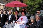 traditional japanese wedding at Tsurugaoka Hachimangu Shrine