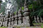 Pictures of Japan - Koyasan - stupas in the forest, mausoleum of Kobo Daishi
