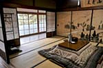 traditional Japanese room inside a monastery-lodge