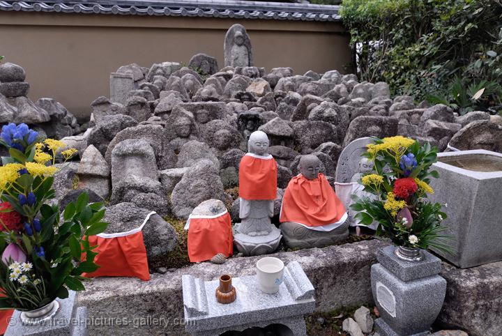 Jizo statues at a temple, (guardians of souls)