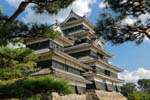 Pictures of Japan - Matsumoto - Matsumoto Castle, also known as Fukashi Castle