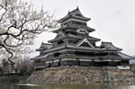 Matsumoto Castle on a cold spring day