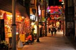 Shinchi-bashi, Chinatown at night