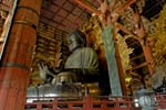 the great Buddha, Daibutsu, in the Todai ji temple