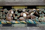 hear no evil, speak no evil, see no evil, the three monkeys at the Toshugu Shrine
