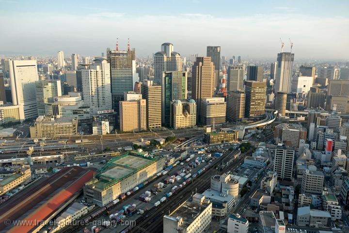 Pictures of Japan - Osaka - the view from the Umeda Sky Building