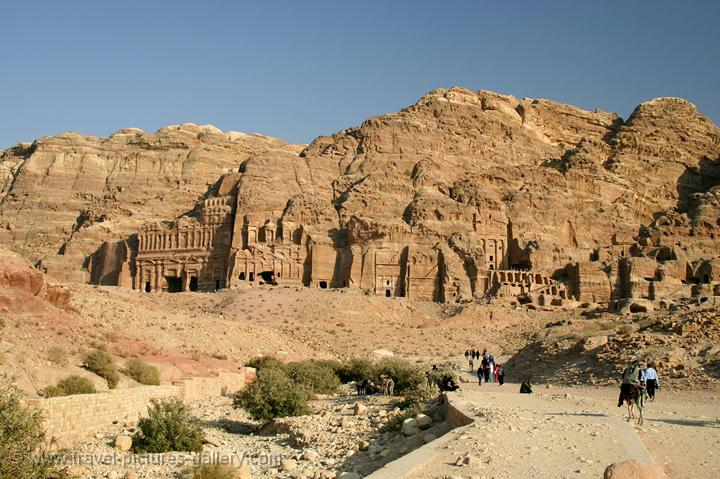 Pictures of Jordan - Petra - Royal tombs of the Nabatean kings