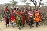Masai People, traditional dress in Samburu N.P.