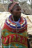 Masai girl wearing beautiful traditional dress, Samburu N.P.