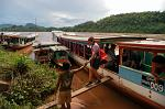 traditional slow boat on the Mekong River