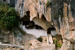 limestone Pak Ou Cave, 25 km from town along the Mekong River