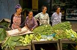women selling vegetables at a country town market