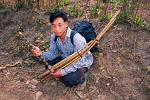 young man with a bamboo flute