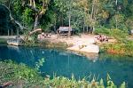 lovely swimming spot nearTham Phu Kham cave