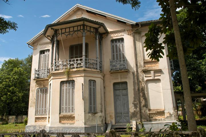 a former French colonial villa