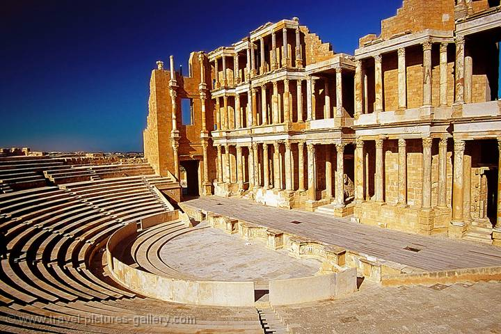 Pictures of Libya - Sabratha, Tripolis (Three Cities), Roman theatre