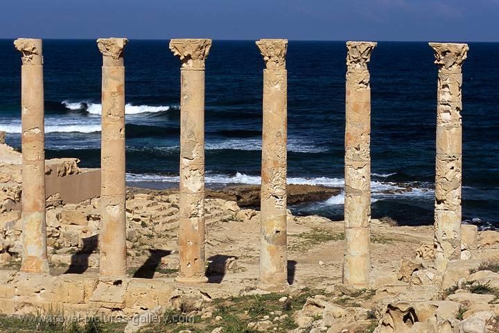 Libya >> Travel Pictures Gallery- Libya-0051- Sabratha, columns