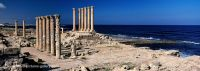 Sabratha, columns at the Mediterranean