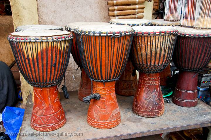 pictures of mali   bamako 0027   djembe the traditional