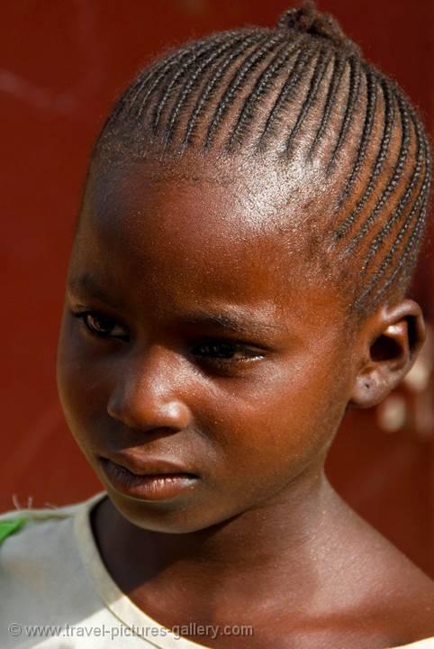 Mali Segou Girl Braided Hair Style