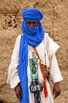man in traditional Tuareg attire