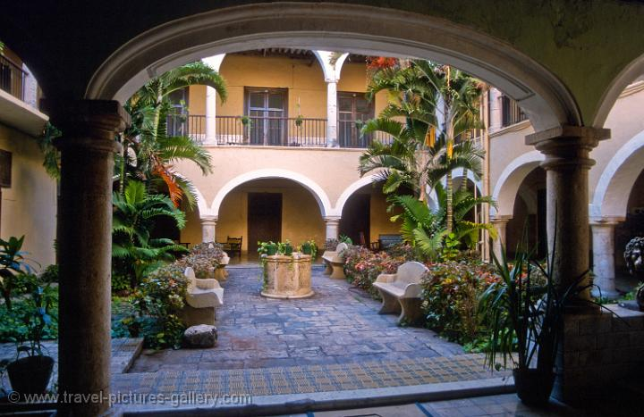 Spanish Colonial Architecture Courtyard Merida