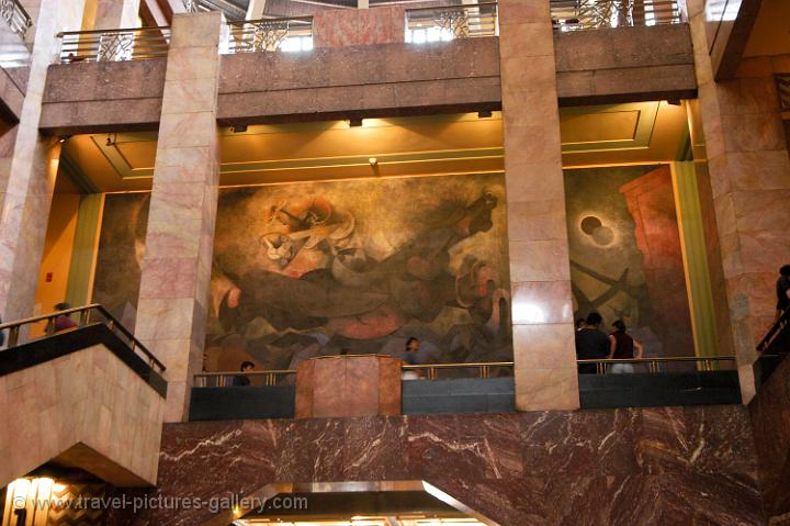 Pictures Of Mexico Mexico City 0057 Rufino Tamayo Mural Painting