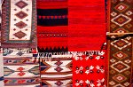 colourful textiles at Tlacolula market