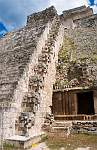 Uxmal, sculpture at the Pyramid of the Magician