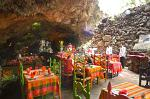 restaurant in a cave at the ruins