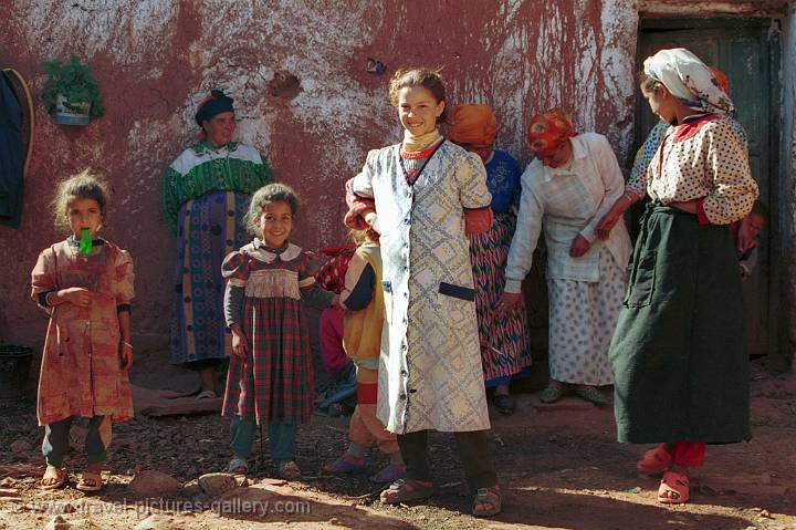 Pictures of Morocco -  in a Berber village near Marrakech