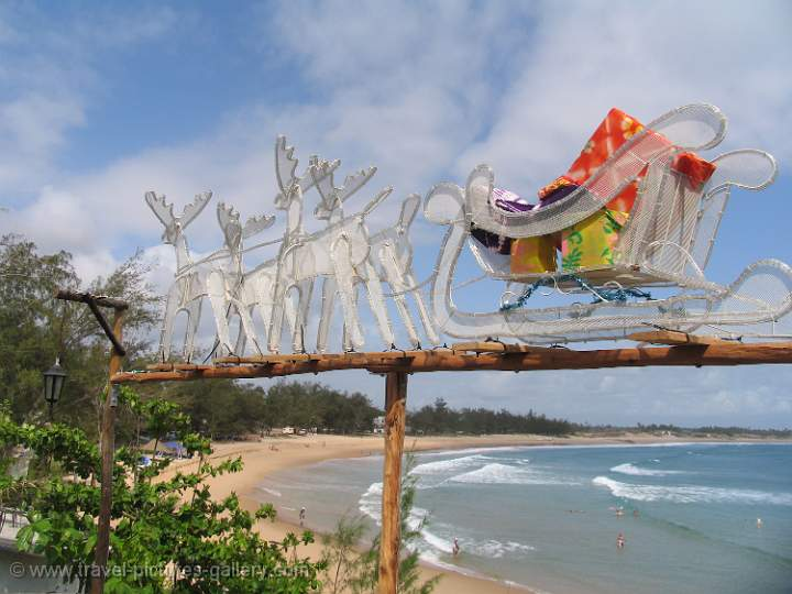 ... Gallery- Mozambique-0027- Christmas at Tofo beach, sleigh and reindeer