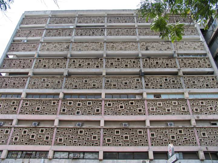Pictures of Mozambique - modern concrete building, Maputo