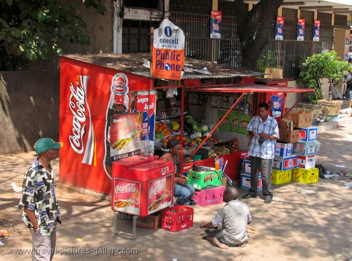Pictures of mozambique food and drinks stall maputo