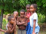 Pictures of Mozambique - playful children, Bilene